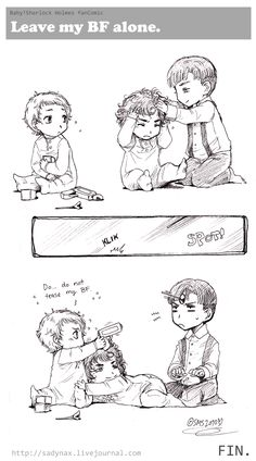 Sadyna's Blog - Baby!Sherlock fan Comic, Leave My BF Alone.