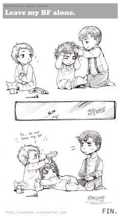 Sadyna's Blog - Baby!Sherlock fan Comic, Leave My BF Alone.