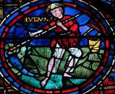 Vitrail de la cathédrale de Chartres, le faucheur