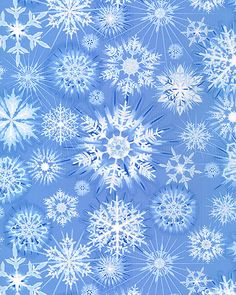 Shimmering Snowflakes - Powder Blue/Silver; #quilting, #fabric, #design