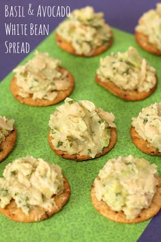 Basil and Avocado White Bean Spread www.veganmotherhubbard.com