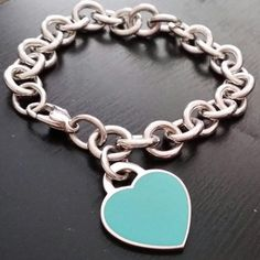 tiffany and co braclet with blue heart
