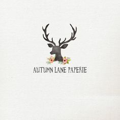 Pre-Made Logo Premade Logo Antler Logo by AutumnLanePaperie