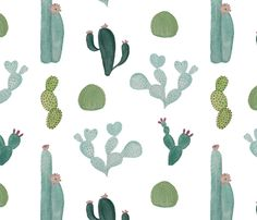 Cacti fabric by valerinick_ on Spoonflower - custom fabric