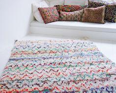 Boucherouite rug ''Spring'' 9'5 x 4'4 ft by ElRamlaHamra on Etsy