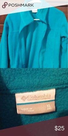 Fleece Columbia Jacket This is a great jacket in very good condition. A nice bright blue and super warm. Columbia Jackets & Coats