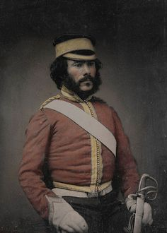 c1855 British Cavalry Officer Photograph