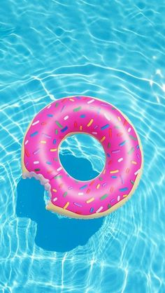 iPhone and Android Wallpapers: Donut Pool Float Wallpaper for iPhone and Android - Wallpaper