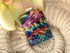 Dichroic Glass Pendant   Dichroic Fused Glass Jewelry by ccvalenzo, #CGGE