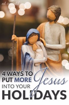Do you have good intentions each holiday season only to find that BUSY takes over forcing what's most important play a distant second? I used to feel the same way until I implemented these 4 very intentional ways of putting more Jesus into my holidays!