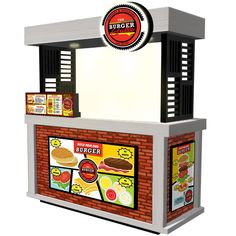 The Burger Grille – Food Cart Enterprise Food Service Jobs, Food Kiosk, Shawarma, Pos, Store Design, Grocery Store, Cart, Hair Iron, Container Shop