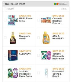 New Coupons As Of March 13 2017