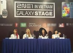 Lovely 2NE1 at the Samsung Galaxy Press Conference in Vietnam