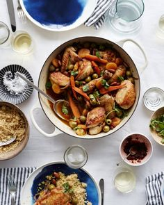 Chicken Tagine with Almonds, Apricots, and Olives