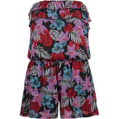 An example of the kind of romper I saw everywhere this weekend. Flower print (although most of the prints I saw were less bold than this one).  Also- people added lots of belts to this style of romper.  $24.99, Tilly's