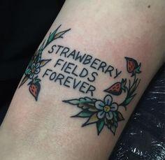 Risultati immagini per strawberry fields tattoo