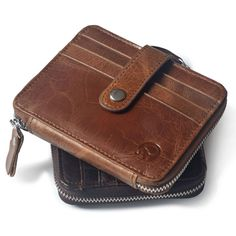 Simple Mini wallets hasp small purse 100% real leather women wallet men purses male clutch crazy horse leather vintage style