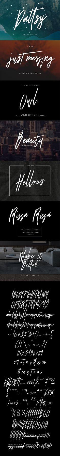 Dattsy Signature Brush Font Download here: https://graphicriver.net/item/dattsy-signature-brush-font/19367518?ref=KlitVogli