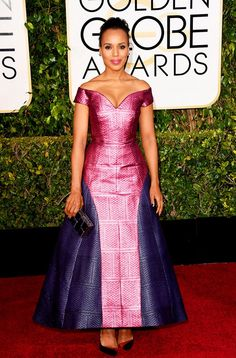 Kerry Washington Photo - Golden Globes 2015 Red Carpet Fashion: What the Stars Wore - Us Weekly Golden Globe Award, Golden Globes, Vogue, John Legend, Celebrity Red Carpet, Celebrity Outfits, Celebrity News, Emma Stone, Red Carpet Dresses