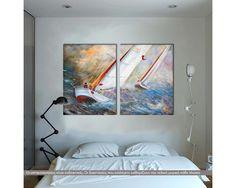 Regatta, δίπτυχος  πίνακας σε καμβά (multipanel) Painting, Art, Art Background, Painting Art, Kunst, Paintings, Performing Arts, Painted Canvas, Drawings
