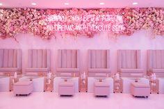 Nail Bar, inspiration for Sol Beauty Co. Cerritos Ca Pink Nail Salon, Nail Salon Design, Nail Salon Decor, Salon Interior Design, Beauty Bar Salon, Beauty Salon Design, Saloon Decor, Hair Salon Interior, Beauty Room Decor