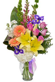 Spring Flowers in a Vase from Weekly Flowers in Ottawa, Ontario. Order now! https://weeklyflowers.com/products/Spring-Flowers-in-a-Vase.html