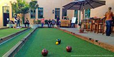 Bocce Ball Courts in San Diego Bars & Restaurants San Diego Bars, Mexican Restaurant Design, Bocce Ball Court, Fun Outdoor Games, Outdoor Restaurant, Restaurant Ideas, Royal Park, Bar Games, Backyard Bar