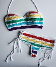 Crochet Bikini Bottoms, Bikinis, Swimwear, Crochet Top, Sunshine, Pearls, Rainbows, Shorts, Instagram
