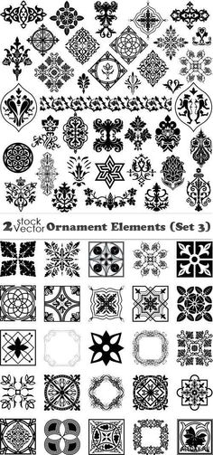 Vectors - Ornament Elements (Set 3)