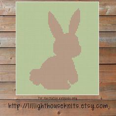 Bunny Silhouette Crochet blanket patterns  blanket tutorial