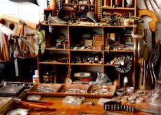Kiff Slemmon's jeweler's desk