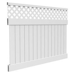 Freedom Contractor Bradford White Lattice-top Semi-privacy Vinyl Fence Panel…