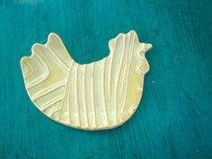 Hen Rooster Chicken spoon rest by ShoeHouseStudio on Etsy, $5.00