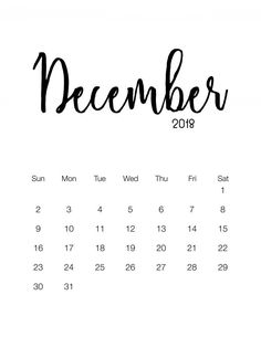 Here is a calendar that will go with any decor whatsoever ...it is clean and crisp so snatch up this Free Printable 2018 Minimalistic Calendar! ENJOY! #calendars