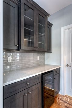 """EKB 200 Series Cabinetry and """"Carrara Mist"""" MSI countertop Sexy Home, Butler Pantry, Pantries, Carrara, Kitchen Remodel, Countertops, Kitchen Cabinets, Decorations, Home Decor"""