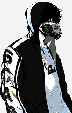 Anime Demon Boy, Dark Anime Guys, Hot Anime Boy, Cute Anime Guys, Anime Boys, Manga Boy, Anime Manga, Anime Art, Anime Mascaras