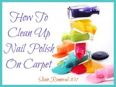 Below I've compiled tips and tricks for how to clean up nail polish on carpet.  It is never a happy moment when you spill or drip nail polish onto an area