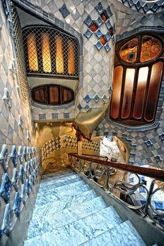 Inside the house Batlló #Gaudi #Barcelona #Spain