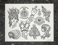 Letterpress flash sheet 2