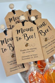 Meant To Bee Wedding Favor Tags Bridal Shower Favor Tags Rustic Wedding Favors Bumble Bee Favors Personalized Wedding Favors Set Of 12 Wedding Favor Rustic Tags Honey Wedding Favors, Creative Wedding Favors, Inexpensive Wedding Favors, Elegant Wedding Favors, Edible Wedding Favors, Wedding Favors For Guests, Personalized Wedding Favors, Wedding Favor Tags, Handmade Wedding