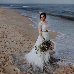 WEBSTA @ sweetcarolinestyles - 🌊🌊🌊 // Cordelia skirt in Smoke Show   Willow crop@// shop link in profile // photo @withloveandembers // hair   makeup @onlo_beauty // model @nataliemariedolan // florals @fallsflowers