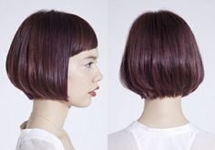 Pin on Hair Style Pin on Hair Style Short Hairstyles For Women, Hairstyles Haircuts, Straight Hairstyles, Midi Hair, Short Hair Cuts, Short Hair Styles, Bob Haircut With Bangs, Hair Color Purple, Hair Designs
