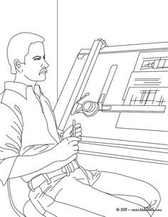 Hairdresser coloring page. Amazing way to discover job. More ...