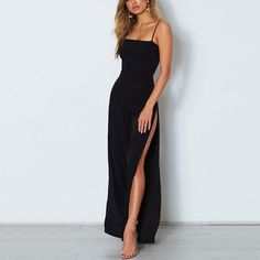 Style Fashion Tips Casual Sexy Sling Pure Color Wide Leg Jumpsuit. Fashion Tips Casual Sexy Sling Pure Color Wide Leg Jumpsuit. Prom Outfits, Grad Dresses, Mode Outfits, Ball Dresses, Fashion Outfits, Women's Fashion, Prom Dress, Semi Dresses, Black Bridesmaid Dresses