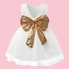 White Dresses For Girls Toddler Pageant Dresses For is cheap, come to NewChic and buy cute flower girl dresses now! White Pageant Dresses, Toddler Pageant Dresses, Girls White Dress, Cute Flower Girl Dresses, Little Girl Dresses, Girls Dresses, Gold Dress, Pink And Green, Toddler Girl