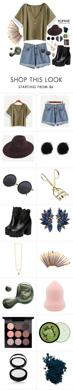 """""""Part of me."""" by sghotra ❤ liked on Polyvore featuring Illamasqua, MAC Cosmetics, The Body Shop and Laura Mercier"""