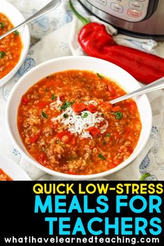 Quick, Low-Stress Meals for Teachers - Teacher Life + Health Care Tips - Do you struggle to find healthy meals while working full-time? These tips and tricks might help you - Quick Meals, Healthy Meals, Healthy Recipes, Easy Recipes, Teacher Lunches, Family Meals, Family Recipes, Recipes From Heaven, Meal Planning