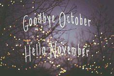 Goodbye October, Hello November!
