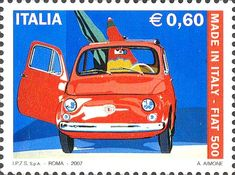 """2007 - Made in Italy - Fiat 500 dall'opera denominata """"Fiat Nuova 500"""", realizzata nel 1968 dal pittore Antonio Aimone."""