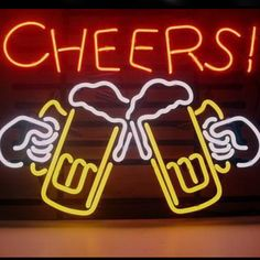 Cheers Beer Beer Bar Open Neon Signs///How I love you neon signs , Real nice for my Home Bar Deco